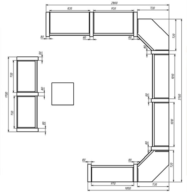план торгового зала